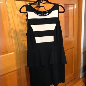 Dress, Peplum, Sleeveless